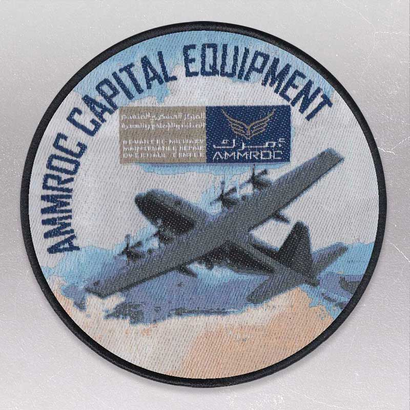 Woven patch with photographic realism example